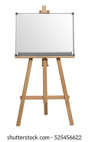 white board. Isolated on white background