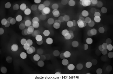 white bokeh abstract on Black background
