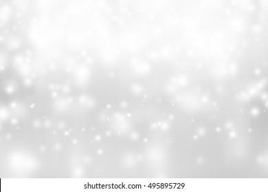white bokeh blur background / Circle light on gray background