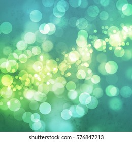 White bokeh on grungy teal green background