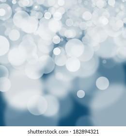 White bokeh on navy blue background