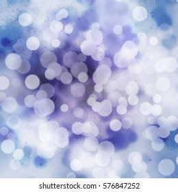 White bokeh on purple and blue grungy background