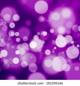 White bokeh on saturated purple background
