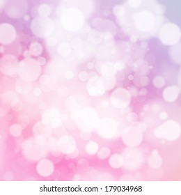 White bokeh on soft pastel pink and purple background