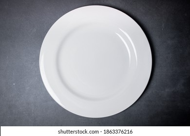 White Bone Plate with Black Background, blackspace and whitespace plate