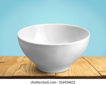 White bowl.