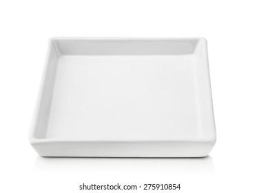 white bowl isolated