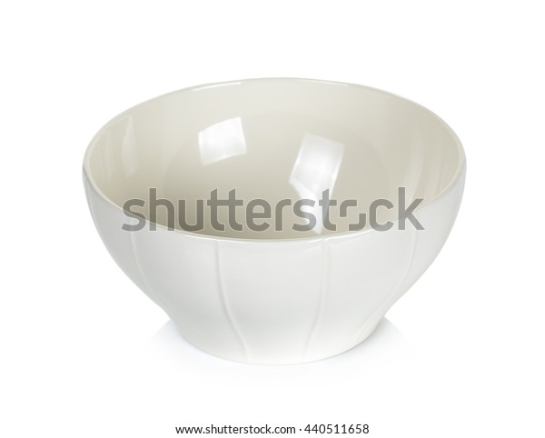 white bowl isolated on the white background.