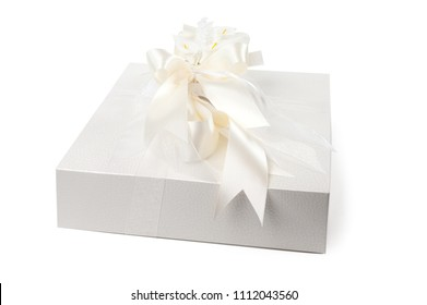 a white box with a bow