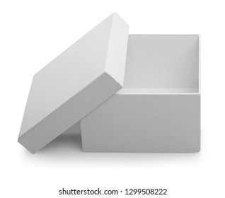 white box isolated with clipping path