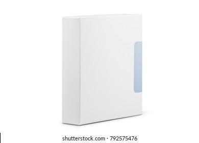 White box. Isolated on white background.