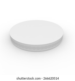 White box for processed cheese. Isolated background