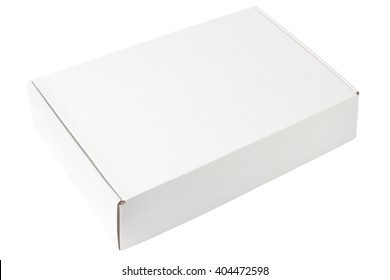 White box template isolated on white background