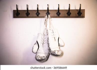 white boxing glove