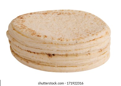 White bread. Arepas