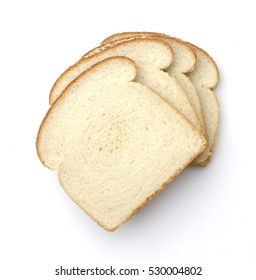 white bread white background