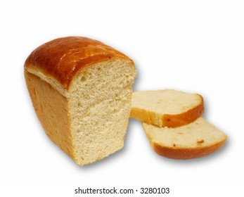 White bread isolated object over white background
