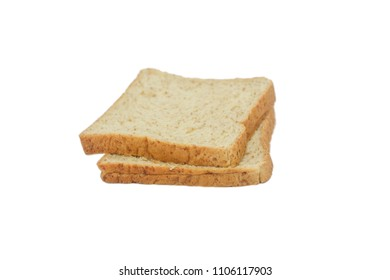 white bread  isolated on white background.