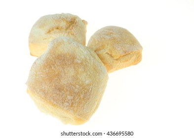 white bread isolated on a white background