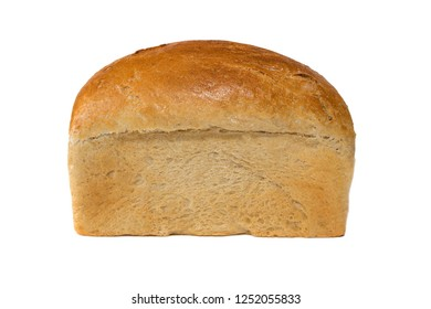 white bread loaf isolated. Loaf of bread isolated on white background