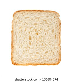 White bread slice. Isolated on white background