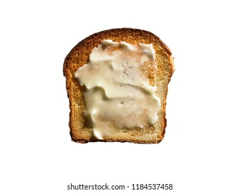 White Bread Toast with Butter