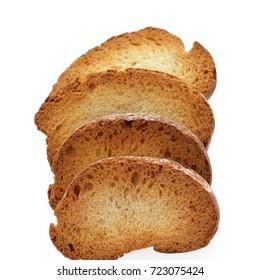 White bread toast. Isolated on white background
