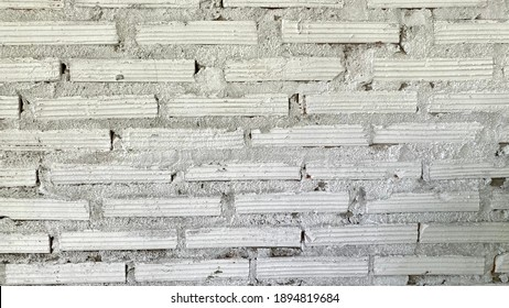 White brick ancient wall background