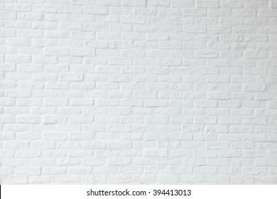 White brick background
