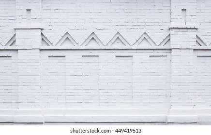 White brick stone wall.