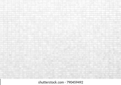 White brick tile wall or White tile floor seamless background and texture