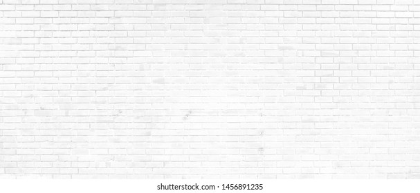 White brick wall background abstract concrete floor or Old cement grunge background with white empty.