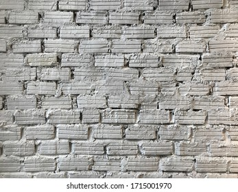 White brick wall background in cafe room