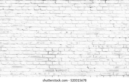 white brick wall background in rural room,
