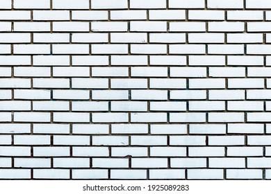 White Brick wall background. Square brick wall background. Pattern of white brick wall background.