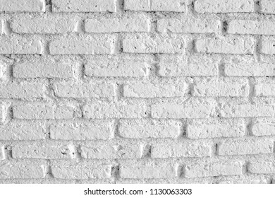 White brick wall background and texture.
