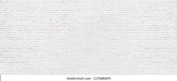 white brick wall background, texture of whitened masonry