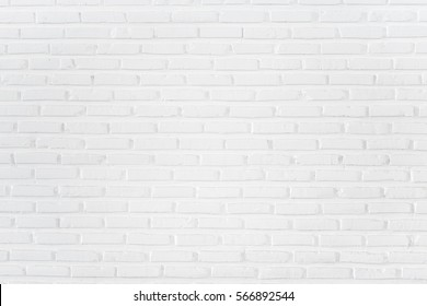 White brick wall background and texture
