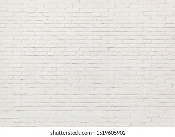 White brick wall background or textured
