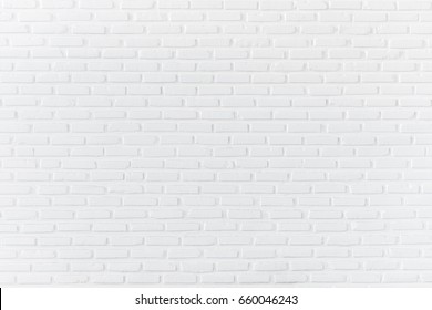 White brick wall for background and textured