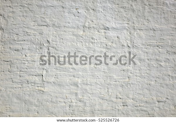 White Brick Wall Background Whitewash Brick Stock Photo