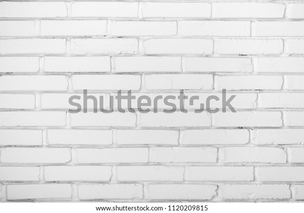 White Brick Wall Clear Wall Background Stock Photo Edit Now 1120209815
