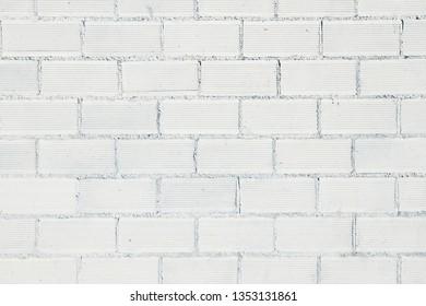White brick wall close up