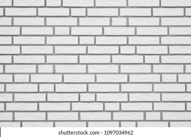white brick wall with gray grouting background texture pattern