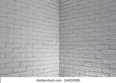 white brick wall, grungy grey texture