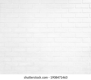 white brick wall horizontal for design cement texture for pattern and backdrop.