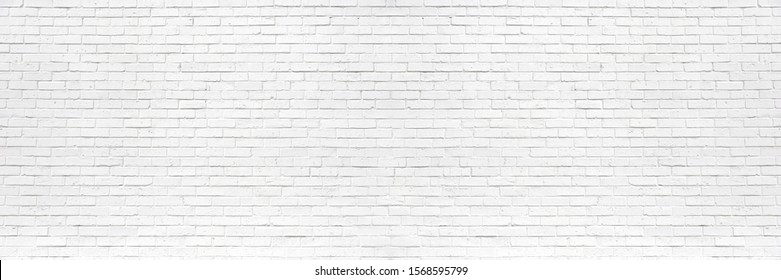 white brick wall may used as background - Shutterstock ID 1568595799