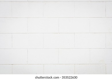 White brick wall, perfect as background or texture
