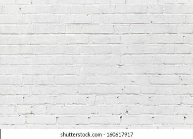White brick wall. Seamless photo background texture