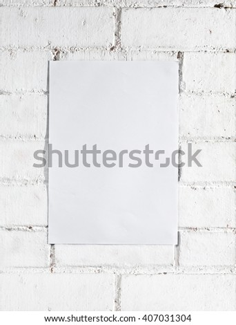 White Brick Wall Template Poster It Stock Photo (Edit Now) 407031304 ...